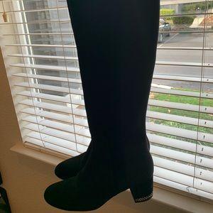 Michael Kors Knee High Boots chain on heel